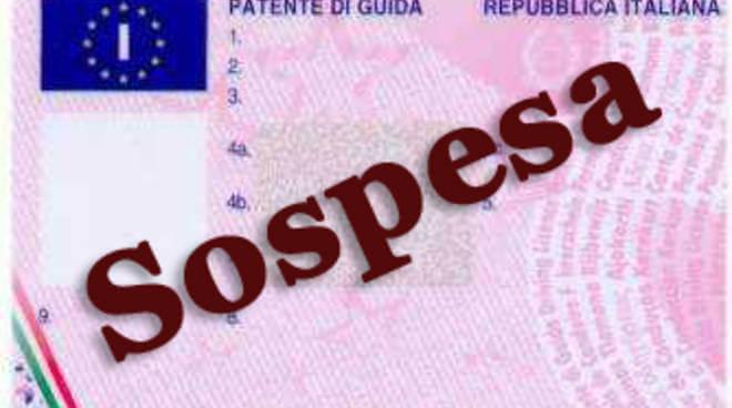 Patente sospesa dal prefetto