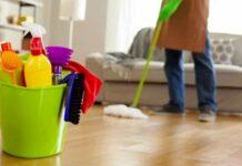 pulizia dei pavimenti